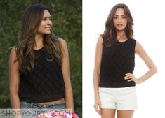 Elena Gilbert (Nina Dobrev) wears this diamond knit mesh trim crop top in this… Vampire Diaries Jewelry, Vampire Diaries Fashion, Teen Fashion, Fashion Outfits, Womens Fashion, Fashion Clothes, Other Outfits, Cute Outfits, Pretty Little Liars Fashion