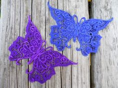 Lace butterflies are perfect for the hair, adding to jeans or shirts, or hanging on a mobile in a window. Design, Urban Threads