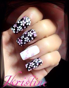 Sakura flower with Fab ur nails
