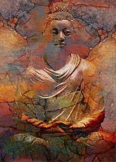 Almost life like Buddha Lotus Buddha, Art Buddha, Buddha Kunst, Buddha Zen, Buddha Painting, Gautama Buddha, Buddha Buddhism, Buddhist Art, Buddha Canvas