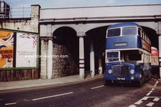 Throston Bridge had railway wagons running across the top leading to the coal staithes - and was also the main route to Hartlepool railway station in Northgate. Before the amalgamation of the two towns Hartlepool Corporation had their own transport with blue buses - with West Hartlepool having red ones. Blue Bus, Middlesbrough, North Sea, Historical Pictures, Old Pictures, Transportation, Two By Two, Places To Visit, History
