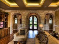 Photo Gallery | Jimmy Jacobs Custom homes....love the arches and door  Austin, Texas ♥