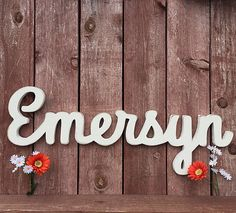 Nursery name sign wooden name sign last name sign wooden name cursive name sign wooden letters baby shower gift baby name sign - Boy Baby Names - Ideas of Boy Baby Names - Baby Name Sign Emersyn Custom Wooden Name by Wooden Name Signs, Baby Name Signs, Wooden Names, Wooden Letters, Cute Baby Names, Unique Baby Names, Boy Names, E Baby Girl Names, Nursery Name
