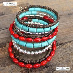 Feather Tribe DIY bracelet set made with Bead Gallery® beads and @beadalon memory wire from @michaelsstores #madewithmichaels