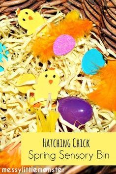 Messy Little Monster: Hatching Chick Spring Sensory Bin