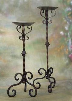 Mancino Iron Works Candelabra Center A Tuscan Design, Tuscan Style, Wrought Iron Candle Holders, Decoration Entree, Wrought Iron Decor, Iron Furniture, Tuscan Decorating, Iron Art, Candle Stand