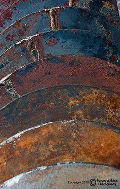 ♀ Color inspiration and texture rust metals - using it on winter layers: