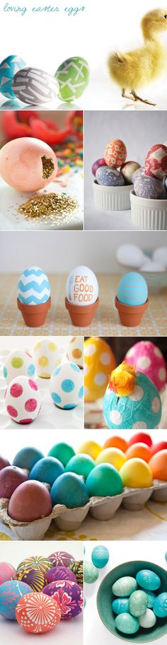 Easter eggs.    http://www.brit.co/40-easter-eggs/   Happy egg dying