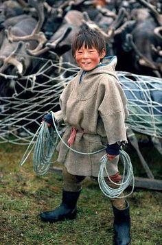 Alexei, A Nenets Boy, Yamal. Siberia, Russia.