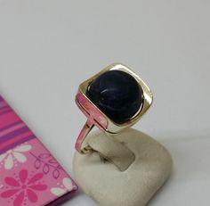 Vintage Ringe - 333er Weissgold Ring Sodalith elegant 18,1 GR139 - ein…