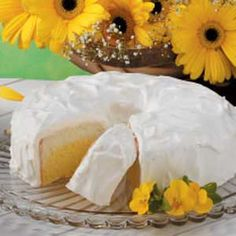 Daffodil Cake (Perfect for spring!) ) from http://www.tasteofhome.com/Recipes/Daffodil-Cake