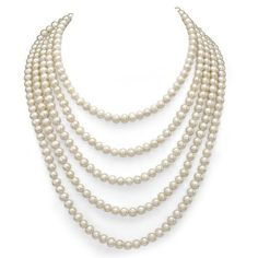 """6-7mm White Genuine Cultured Freshwater High Luster Pearl Endless Necklace 100"""" Length. La Regis Jewelry http://www.amazon.com/dp/B00J3ZP55I/ref=cm_sw_r_pi_dp_wiLBub0XBS56N"""