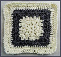 Crochet pattern: #74 Granny Square puff stitch