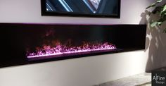 If you want to install an extraordinary decorative fireplace, think about the AFIRE ventless modern water vapor fireplace. Installing A Fireplace, Fireplace Tools, Modern Fireplace, Foyers, Electric Fireplace Insert, Fireplace Inserts, Tv Camino, Hearth, New Homes