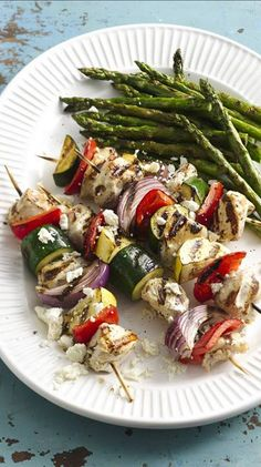 Grilled Mediterranean Chicken Vegetable Kabobs Dr Axe