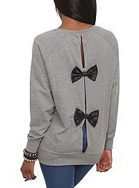 HOTTOPIC.COM - Iron Fist Lamby Bow Back Pullover Top