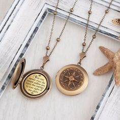 Compass Necklace You can never cross the ocean Encouragement Gift Courage Necklace Motivational Jewelry Compass Jewelry Nautical Jewelry Monogram Jewelry, Nautical Jewelry, Cute Jewelry, Jewelry Accessories, Jewelry Design, Women Jewelry, Compass Jewelry, Compass Necklace, Or Antique