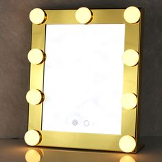 Vanity Lighted Hollywood Makeup Mirror with Lights Dimmer Stage Hollywood Makeup Mirror, Mirrors For Makeup, Diy Makeup Vanity, Makeup Mirror With Lights, Gold Vanity Mirror, Led Mirror, Lighted Mirror, Dim Lighting, Vanity Lighting