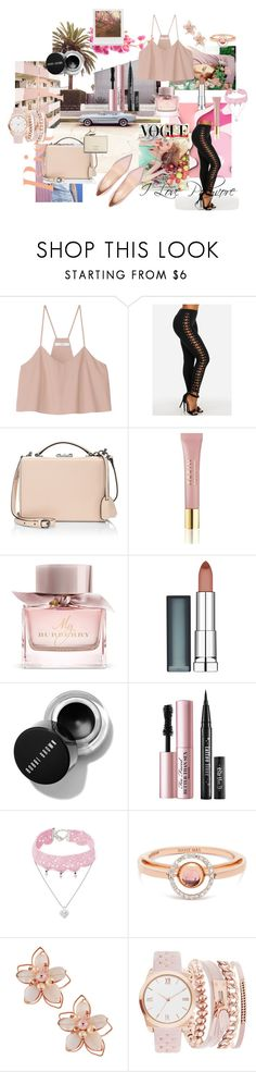 Baby Pink by kaoriihayashi on Polyvore featuring TIBI, Mark Cross, Marie Mas, Design Lab, NAKAMOL, A.X.N.Y., Maybelline, Burberry, AERIN and Too Faced Cosmetics