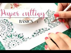 Paper cutting Basics #1 of 4 videos| Intro & Supplies - YouTube-First video -6:35min-in the ''Paper cutting basics'' series. You will learn about paper cutting, supplies, designing templates, cutting and framing