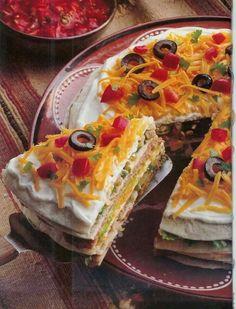 Multi layered taco pie