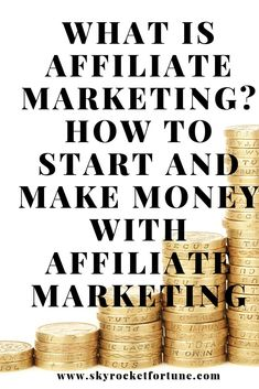 How to start your affiliate marketing and what are the best affiliate marketing programs. What are the profitable niches to target for beginners and experts? Make Money From Home, Way To Make Money, Make Money Online, How To Make, Affiliate Marketing, Business Advice, Online Business, Starting Your Own Business, Online Earning