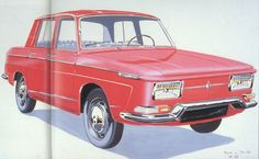 OG | 1965 Renault 10 Major | Design sketch by Michel Boué dated March 1963