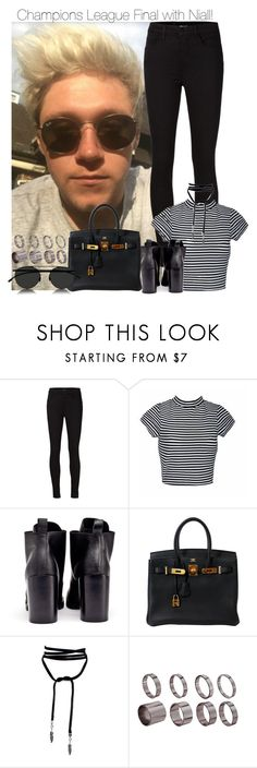 """""""Champions League Final with Niall!"""" by directionermixer01 ❤ liked on Polyvore featuring J Brand, Cheap Monday, Hermès, ASOS and Mykita"""