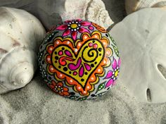 images of zentangles on rocks | Zentangles & Doodles / Peaceful Fairy Tale / Painted Rock / Sandi Pike ...