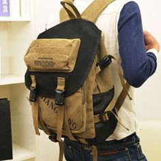 10 best men s canvas backpack images on pinterest canvas backpacks rh pinterest com