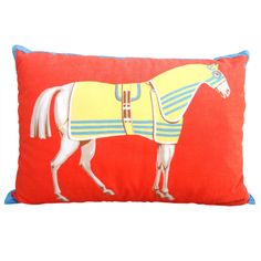 Vibrant 1980's Hermes Equestrian Pillow
