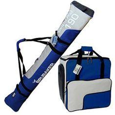 BRUBAKER Sac à chaussures de ski 'Super Function' et Housse à skis 'Carver Pro' pour 1 Paire de skis + Bâtons + Chaussures + Casque – 190…