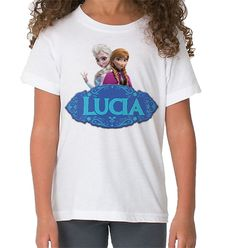 Camiseta Frozen Personalizable para Niños Con su Nombre   Shirtfactory