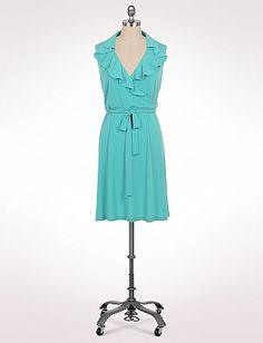 Plus Size Ruffle Wrap Dress | Dressbarn