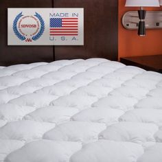 Amazon.com - Extra Plush Mattress Pad - Topper with Skirt - Found in Marriott Hotels - Fitted Mattress Pads--made in usa