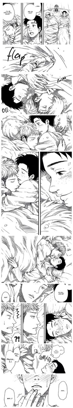 """Attack on Titan ~~ Back-in-the-day, we had stories called """"Blanket fics"""". This fits the bill nicely. ♥ :: Jean and Marco"""