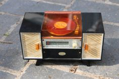 RARE VINTAGE ECHO INDUSTRIAL MUSICA WIND UP RECORD PLAYER MUSICAL JEWELLERY BOX