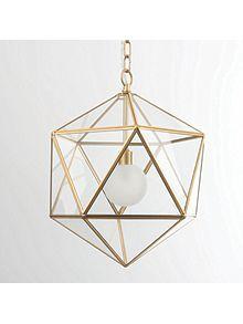 Sage gold pendant