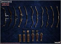 Dragon Age II: Longbows and Quivers pack by Berserker79 equipment gear magic item | Create your own roleplaying game material w/ RPG Bard: www.rpgbard.com | Writing inspiration for Dungeons and Dragons DND D&D Pathfinder PFRPG Warhammer 40k Star Wars Shadowrun Call of Cthulhu Lord of the Rings LoTR + d20 fantasy science fiction scifi horror design | Not Trusty Sword art: click artwork for source