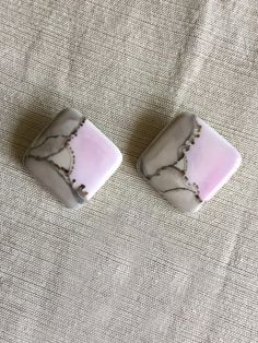 $19.95 One Of A Kind - Set of Vintage Art Deco Geometric Hand Painted Ceramic Pink & Grey Clip On Earrings - Color Block Earrings 1 1/2 inch #VintageJewelry #BeachJewelry #NauticalJewelry #Vintage #Earrings #Jewelry #Jewels #Jewel #Bling #Fashion #CeramicEarrings #Trendy #Beautiful #Accessories #Love #ClipOnEarrings #Fashionista #Accessory #Stylish #Cute #FashionJewelry #Hipster #EcoFriendly #Igshop #EcoFriendlyJewelry #Gift #ForSale #Scandalpants #HandPainted #GiftForHer