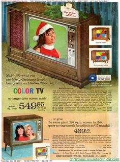 Christmas Catalogs, Christmas Books, 1st Christmas, Vintage Tv Ads, Montgomery Ward, Phonograph, Classic Tv, Book Pages, Tvs