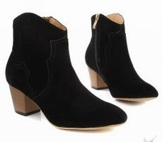 Isabel Marant Dixie Suede Ankle Black Boots