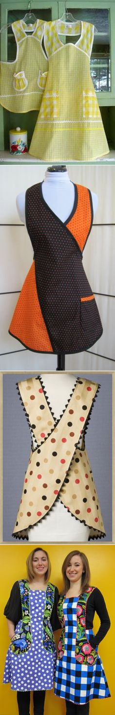 (122) Fifty's Polka Cafe'. A pattern could be made for this, using very little fabric.   Sewing - Clothing