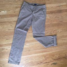 Gap khakis Straight leg gap khakis, size 2 regular! New condition (honestly don't think they have been worn) GAP Pants Straight Leg