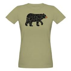 Wild - Black bear Organic Women's T-Shirt (dark)