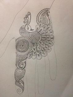 Peacock Mehendi Design 1 Hena Designs, Finger Henna Designs, Basic Mehndi Designs, Stylish Mehndi Designs, Mehndi Designs 2018, Mehndi Designs For Beginners, Mehndi Designs For Fingers, Henna Tattoo Designs, Arabic Mehndi