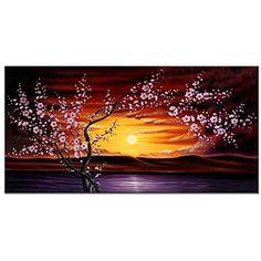 [Framed] Plum Tree Blossom Flowers Canvas Art Picture Prints Wall Home Decor New #WiecoArt #ArtDeco