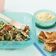 Tabbouleh with Chicken and Red Pepper Recipe | MyRecipes.com Mobile