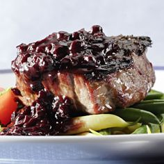 Filet with Blueberry BBQ