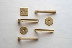 Architectural hardware of the lever handle / MATUREWARE by FUTAGAMI / brass casting surface